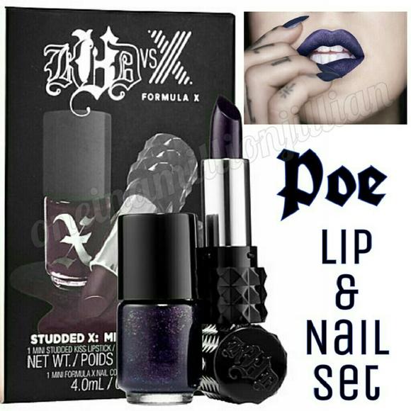 Kat Von D Makeup   Restocked Lip Nail Set Poe   Poshmark