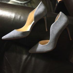 Nine West Shoes - 1DAY 😍LIGHT BLUE SUEDE HEELS😍