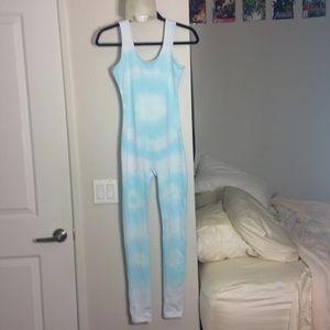 Pastel tie-dye jumpsuit
