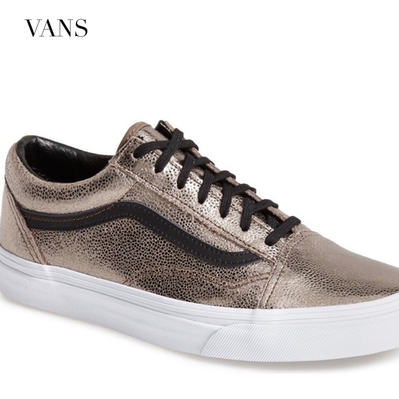 e4181e35fb VANS  Old Skool  Metallic Bronze Leather Sneaker. M 57ce3942fbf6f9d2f600b290
