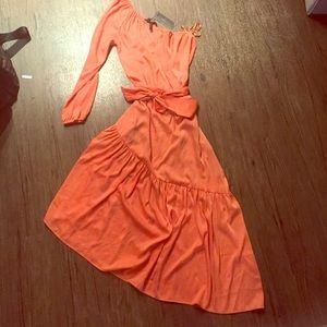 NWT!BCBG Max Azria tangerine colored dress