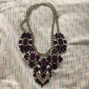 Jewelry - Nwot Pretty purple and silver necklace