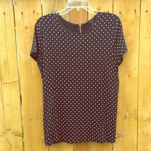 Ann Taylor Tops - ⬇️ Black & White Polka Dot Top