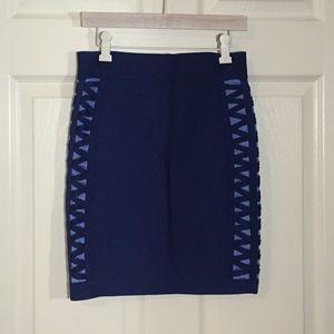 bebe Dresses & Skirts - Bandage mini skirt with lace up detailing