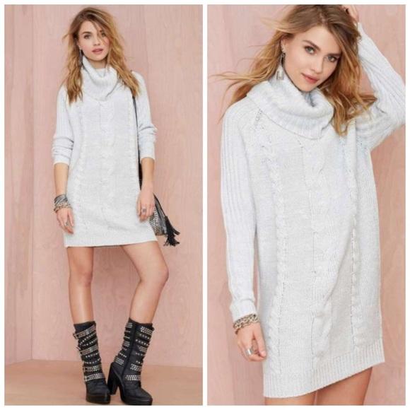 2cdd2ea1781 NWT Nastygal Turtleneck Sweater Dress
