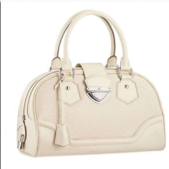 76% off Louis Vuitton Handbags - Louis Vuitton off white Epi ...