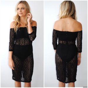 Asilio Dresses & Skirts - NWT Asilio French Affair Crochet Lace Black Dress