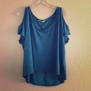 Chloe K Tops - Cold Shoulder T-Shirt
