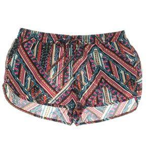 Aqua Pants - AQUA  Georgette Printed Drawstring Shorts
