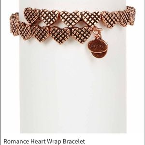 Alex & Ani rosegold heart bangle