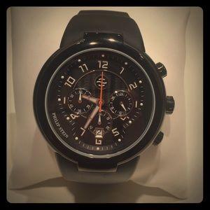 Philip Stein Teslar Accessories - NWT Philip Stein Teslar Black Rubber Strap Watch