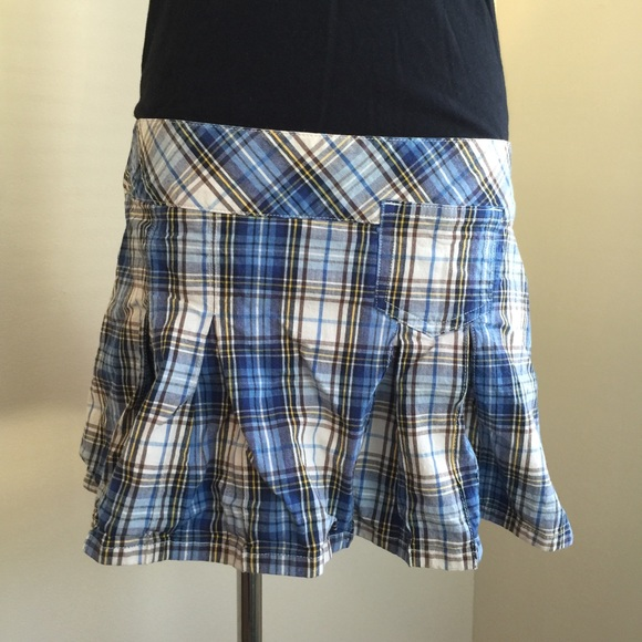 abercrombie fitch abercrombie fitch blue plaid mini