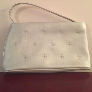 Handbags - NWOT Silver Bag/Wristlet