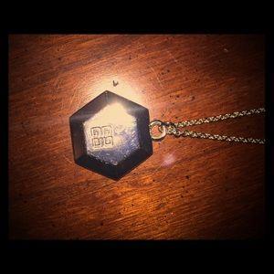 Givenchy sliver pentagon necklace