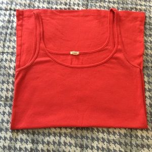 Red coral J. Crew tank top, Size M