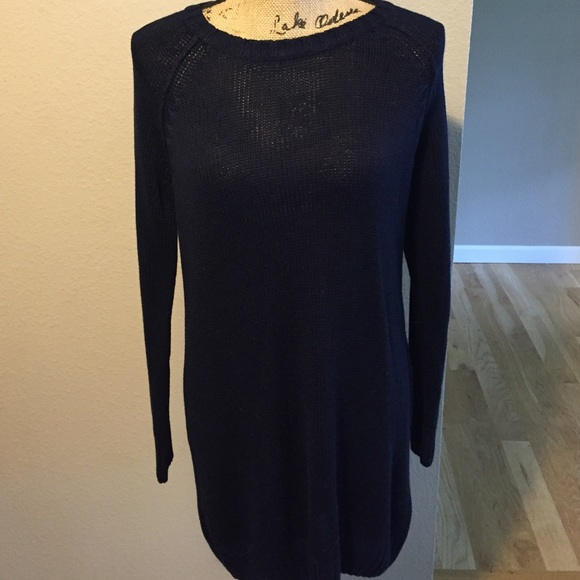 Hm Dresses H M Basic Navy Sweater Dress Size M Poshmark