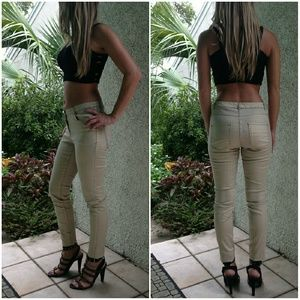 H&M Pants - H&M Gold Shinny Skinny Pants