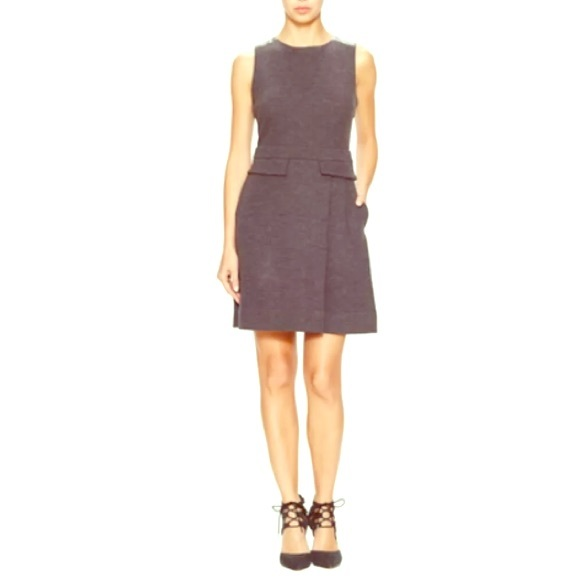 huge selection of eb6a3 894e7 Marc Jacobs Milly Milano Wool Leather Dress