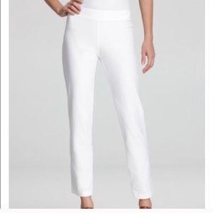 White Eileen Fisher Capri pants