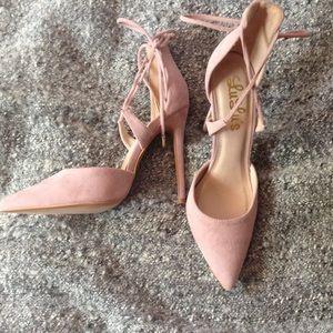 Lulu's pink heels