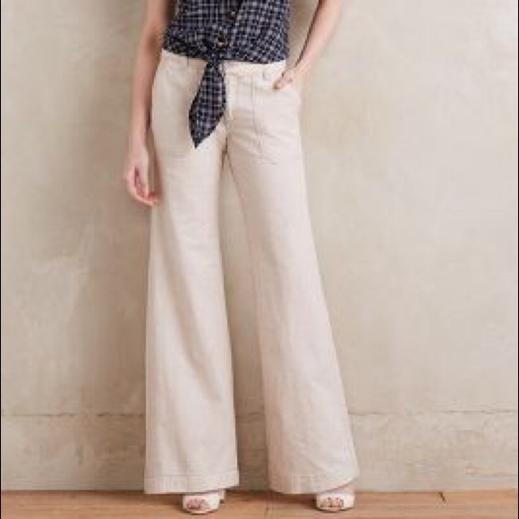 223b092e0c33 Anthropologie Pants - New Anthropologie Pilcro Linen Wide leg Pants 6
