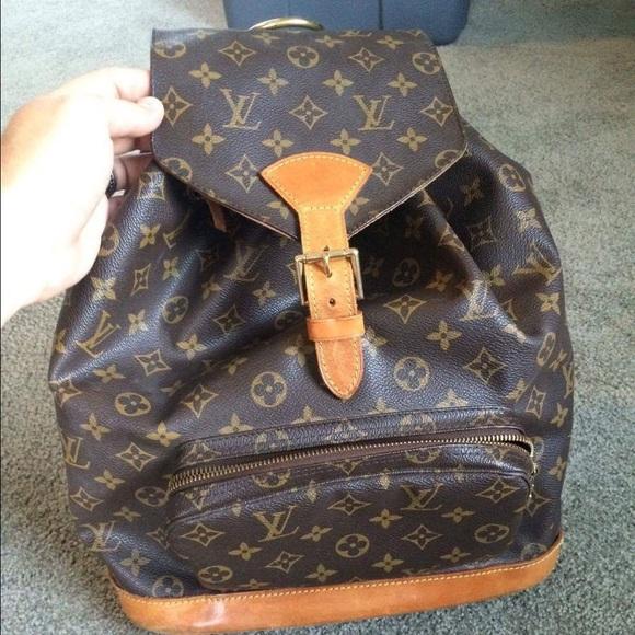 7e4af4738458 Louis Vuitton Handbags - Louis Vuitton Montsouris GM Monogram Canvas Backpa