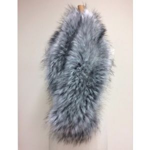 IMPOSTER Accessories - IMPOSTER Faux Fur Long Straight Scarf - Silver Fox