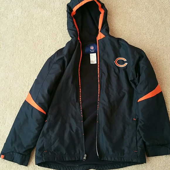 reebok jackets coats chicago bears winter coat size. Black Bedroom Furniture Sets. Home Design Ideas