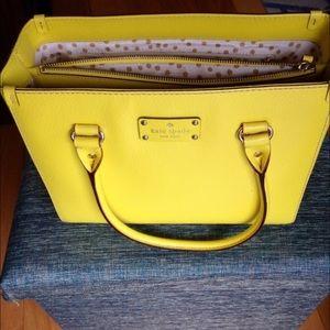 Bright Yellow Wellesley Quinn Purse