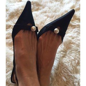e89df31a287 L. K Bennett Shoes - SALE🌲L.K Bennett UK satin   pearl kitten heels