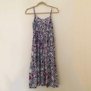 Mossimo Floral Print Ruffle Maxi Dress
