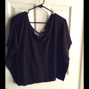 Threads 4 Thought Tops - Black Off Shoulder Top