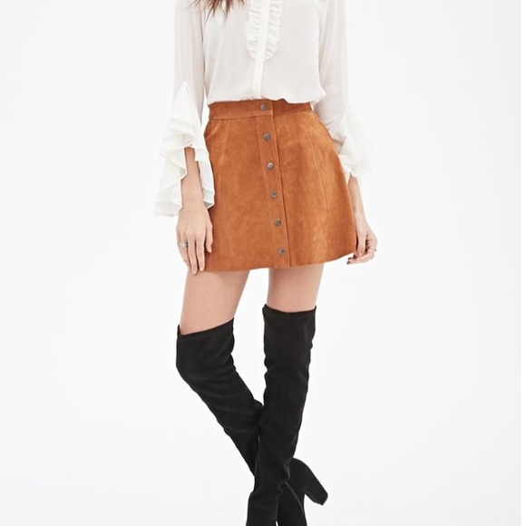 67% off Urban Outfitters Dresses & Skirts - Chestnut Brown Suede ...