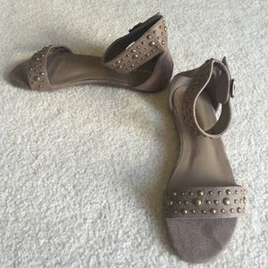Charlotte Russe Shoes - Taupe Studded sandal
