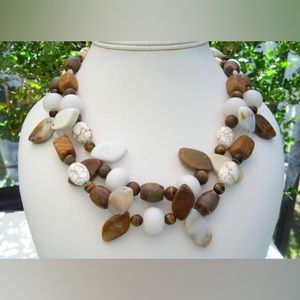 Natural Gemstone Statement Necklace