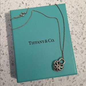 Tiffany & Co silver heart charm necklace