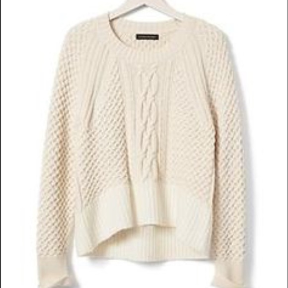 78% off Banana Republic Sweaters - Banana Republic cropped cable ...