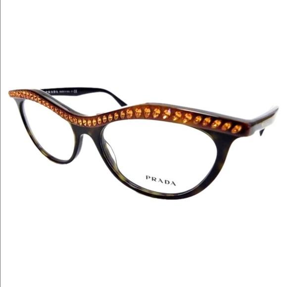 cf7e2bbd564c New Prada Eyeglasses Black Frame Amber Crystals.  M 57cf313399086a30ab005f46. Other Accessories ...