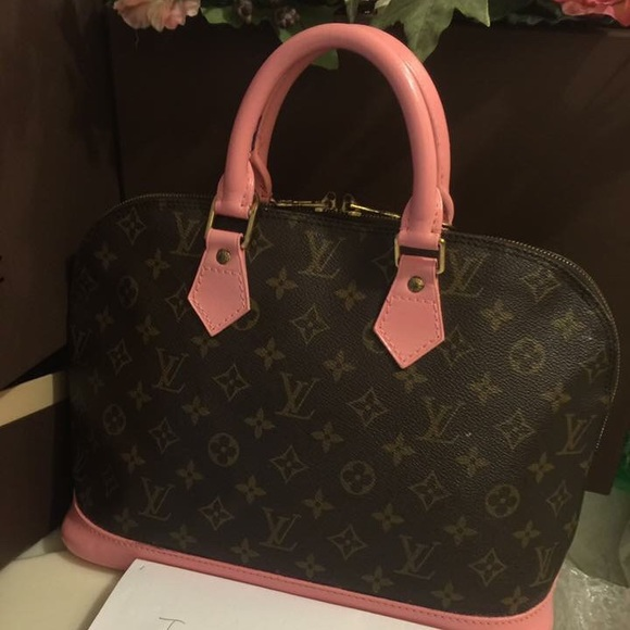 ca88603ffca 64% off Louis Vuitton Handbags -   SOLD ON EBAY    ALMA leather painted  candy pink from Dream s closet on Poshmark