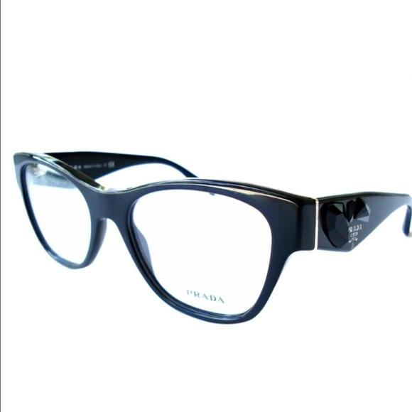 874962b5aeed Prada Women s Black Optical Frame with Crystals. M 57cf362abcd4a7d90e0068e1