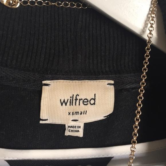 Wilfred Jackets & Coats - Wilfred Black Open Front Sweatshirt Shrug sz XS