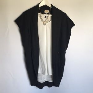 Wilfred Black Open Front Sweatshirt Shrug sz XS