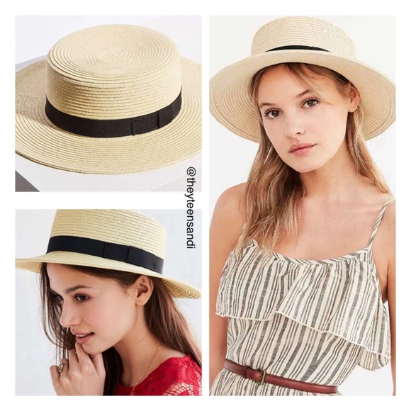 b1866002148 Urban Outfitters Madeline Straw Boater Hat
