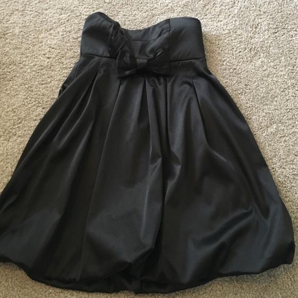 78% off Ruby Rox Dresses & Skirts - Black strapless bubble dress ...