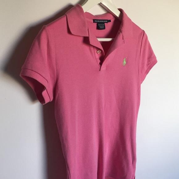 Ralph Lauren Tops - Ralph Lauren Pink Sport Fit Polo Shirt sz S