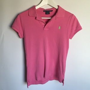 Ralph Lauren Pink Sport Fit Polo Shirt sz S
