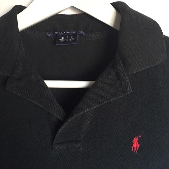 Ralph Lauren Tops - Ralph Lauren Black Sport Style Polo Shirt sz S