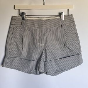 J.Crew city fit cotton chino blue white shorts 0