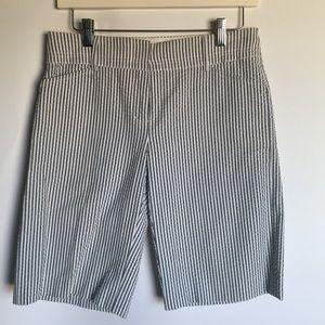 BCBG Max Azria blue pinstripe Bermuda shorts 2
