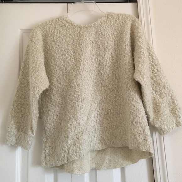 86% off Topshop Sweaters - Cream fuzzy sweater from Sarah's closet ...